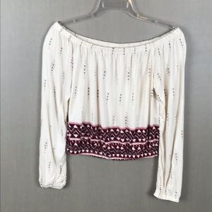 H & M Divided Crop Top Size Small